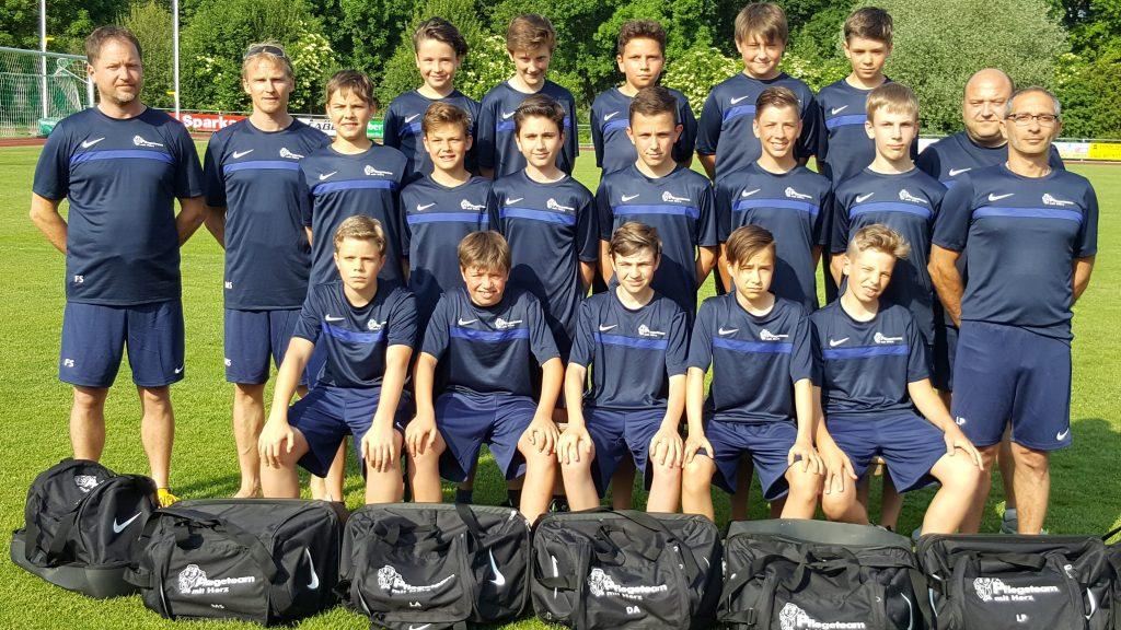 Fussball D2-Jugend Mannschaft Herbstmeisterschaft